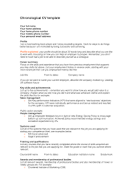 Gallery Of Chronological Resume Examples