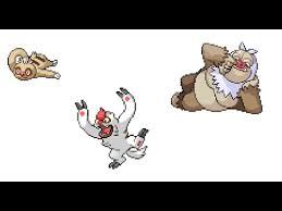 Shroomish Evolution Chart Pokemon Emerald Slakoth Evolves To Vigoroth And To Slaking
