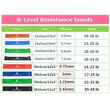 Stretch Band Loops Exercise Chart Resistance Band Set Latex Gym Strength Training Rubber Loops With Instruction Guide Thick Elastic Bands Yoga Gym Fitness Workout