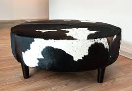 cowhide ottoman coffee table cowhide ottoman round large ottoman coffee tables cow skin ottoman leather and