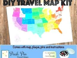 Pins For Maps Magnetic Pin Travel Map Nonewz Co