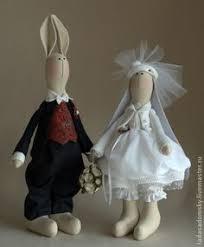 Купить <b>Свадебная парочка</b> - зайки тильда, тильда, тильда зайки ...