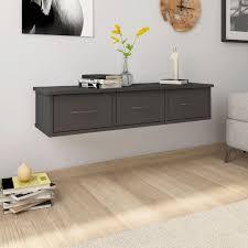 wall mounted drawer shelf 90x26x18 5 cm