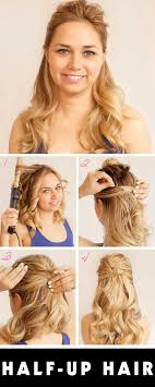 Prom Hair Style Up 18 easy halfup halfdown hairstyle tutorials for prom gurl 2471 by wearticles.com