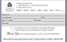 Fundraising Pledge Card Template