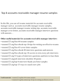 Accounts Receivable Manager Resume Resume For Your Job Application