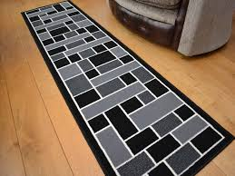 details about very long narrow small black grey hall floor carpets runners rug rugs mat mats