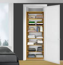 shelves inside smaller closet