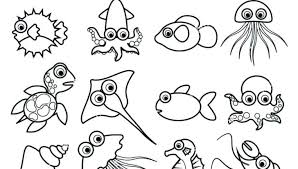 Ocean Animals Coloring Pages For Adults Waves To Print Es Kids Color