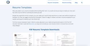 Free Online Modern Resume Templates 21 Best Resume Templates Of 2020 Free Word And Pdf