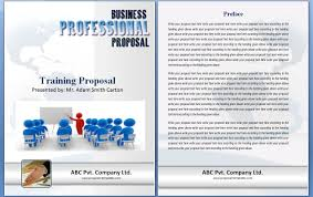 Training Proposal Template Word One Piece