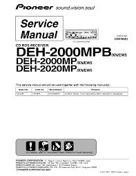 pioneer deh p25 wiring diagram pioneer image pioneer deh 2000mpb 2020mp crt4043 sm service manual on pioneer deh p25 wiring diagram