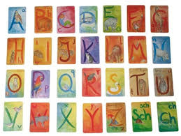 alphabet picture cards illustrated waldorf alphabet cards wild woodland toys