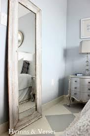 tall floor mirror. A $5 Thrift Mirror + Old Barn Wood Siding \u003d Tall Floor For My New Bedroom - Hymns And Verses