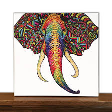 pleasant design ideas elephant wall art remodel animal canvas home decor tribal zoom for nursery stickers uk