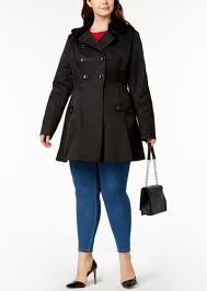 plus size waterproof skirted trench coat