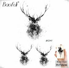 Baofuli геометрический сияющий бриллиант временная мужская татуировка Galaxy Body Art