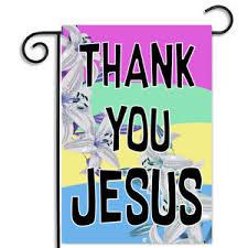 Thank You Easter Details About Thank You Jesus Springtime Easter Theme Nylon Apartment Garden Flag