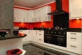 Kitchen, Red Kitchen Ideas Dark Brown Wooden Laminate Bar Stools Square  Black Pattern Tile Backsplash