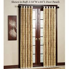 wood door curtain rod modern light brown rattan l french dark