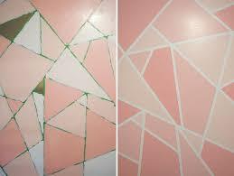 diy geometric paint glitter wall