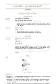 Resume Undergraduate Magnificent Undergraduate Research Assistant Resume Samples VisualCV Cover