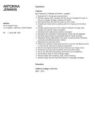 Publicist Resume Sample