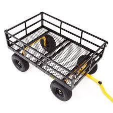 flatbed utility cart. Modren Utility Gorilla Steel Garden Flatbed Utility Cart  GOR1400COM On