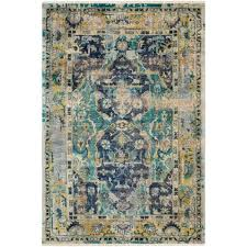 festival multicolor rectangular 6 ft x 9 ft rug
