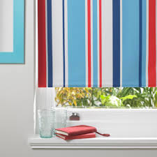 Colours Keel Corded Blue, Red & White Roller Blind (L)160 cm (W)60 cm |  Departments | DIY at B&Q