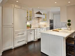 White Kitchen Dark Wood Floors Natural Hardwood Floors And Dark Cabinets Preferred Home Design
