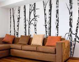Small Picture Silver Birch Trees Vinyl Wall Sticker Contemporary Wall Stickers