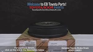 genuine toyota brake drum 42431 04051 boch toyota south parts