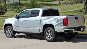 2016 2016 2017 2018 chevy colorado truck bed stripes antero decals rear side bed mountain scene accent vinyl graphics kit