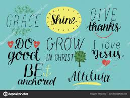 Christian Quotes On Grace Best Of Set Of 24 Hand Lettering Christian Quotes With Symbols I Love Jesus