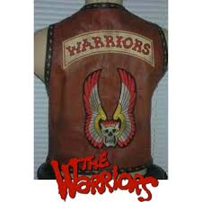 the warriors leather vest genuine leather custom real replica vest