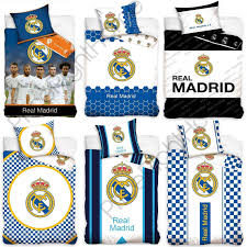 official real madrid single double duvet covers football bedding cushions 1 of 1free