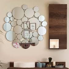 nickles dimes ornate modern round wall mirror decorative design