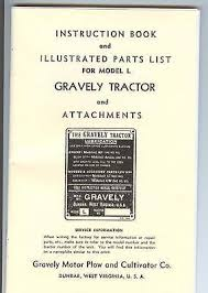 gravely tractor parts 8 reprint manual
