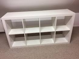 ikea white high gloss shelving unit good condition 75 new collection only