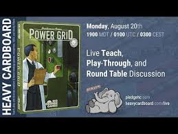 power grid 4p play through teaching roundtable discussion by heavy cardboard