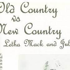 The Old Country vs the New Country
