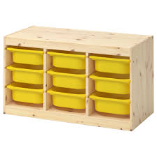 Furniture Box Trofast Storage Combination With Boxes Light White Stained Pine