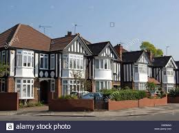 1930s Houses In Ealing West London England With Bay Windows