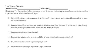 peer editing literary analysis essays google docs