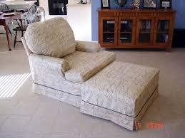 2 cushion chair and ottoman slipcover