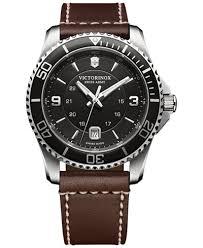 victorinox swiss army men s swiss maverick brown leather strap victorinox swiss army men s swiss maverick brown leather strap watch 43mm 249107