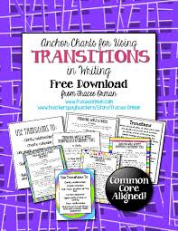 Common Core Anchor Charts Common Core Writing Transitional Words Anchor Charts