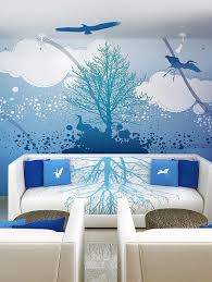 Photo Gallery : Blue Sky Bedroom Wall ...