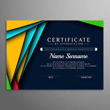 Abstract Modern Certificate Background Vector Free Download